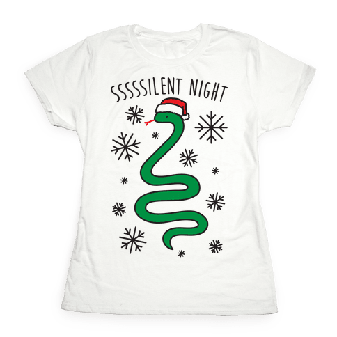 Sssssilent Night Snake Womens T-Shirt