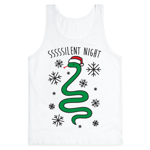 Sssssilent Night Snake Tank Top