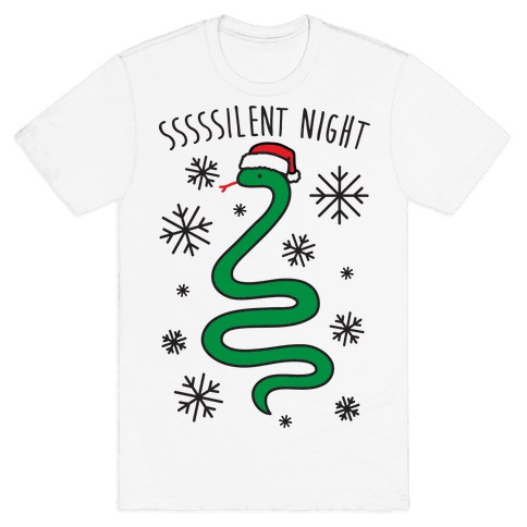 Sssssilent Night Snake Mens T-Shirt