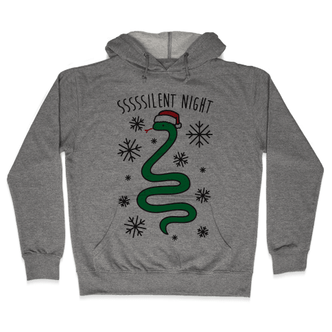 Sssssilent Night Snake Hooded Sweatshirt