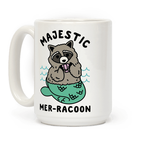 Majestic Mer-Raccoon Coffee Mug