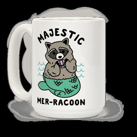 Majestic Mer-Raccoon Coffee Mug