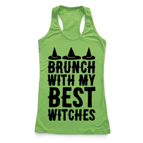 Brunch With My Best Witches Racerback Tank Top