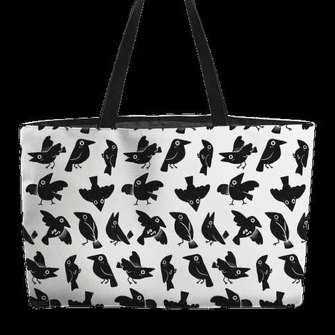 Cute Crow Pattern Weekender Tote