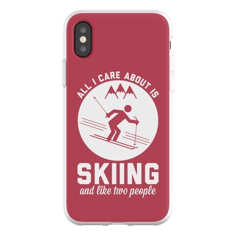 Skiing and Like Two People Phone Flexi-Case
