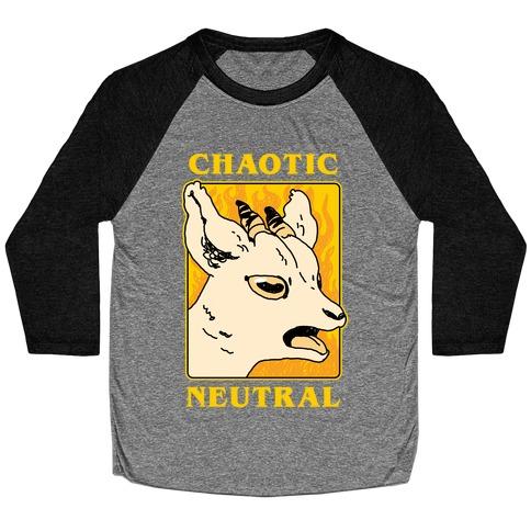 Chaotic Neutral Goat Baseball Tee