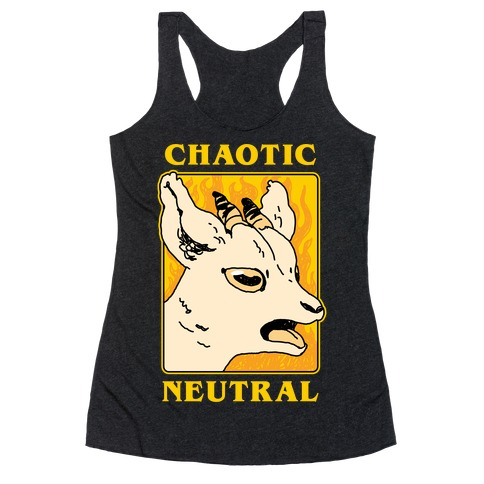 Chaotic Neutral Goat Racerback Tank Top