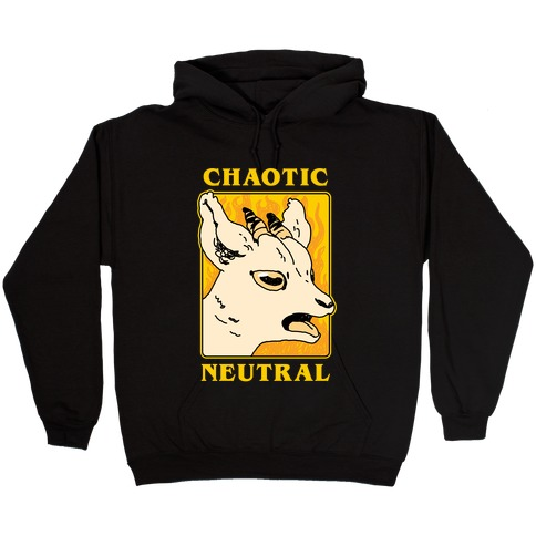Chaotic Neutral Goat Hooded Sweatshirt