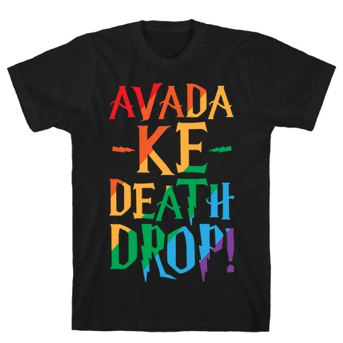 Avada Ke-Death Drop Parody White Print Mens T-Shirt