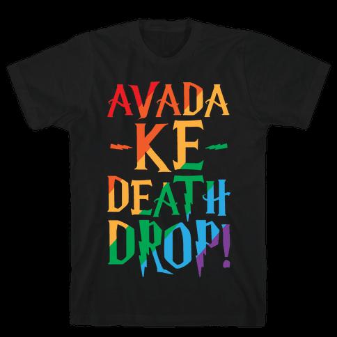 Avada Ke-Death Drop Parody White Print Mens T-Shirt
