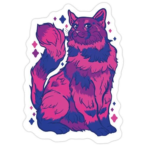 Bisexual Pride Cat Die Cut Sticker