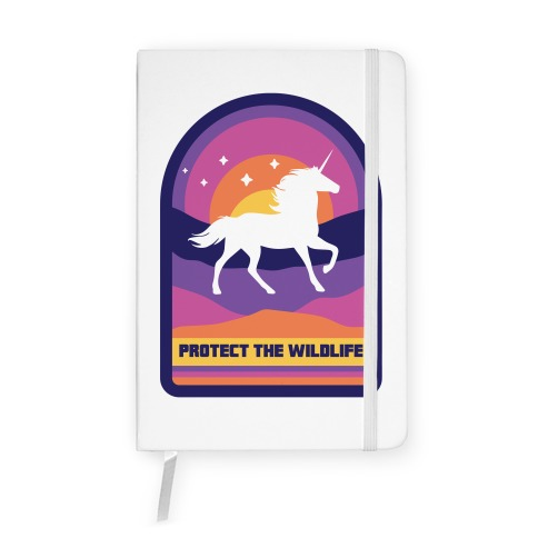 Protect The Wildlife (Unicorn) Notebook