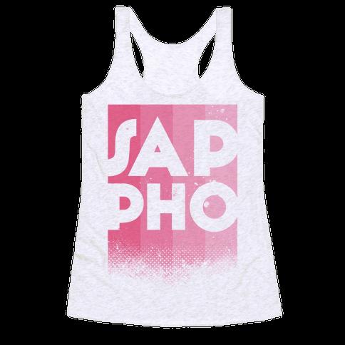 Vintage Sappho Pink Racerback Tank Top