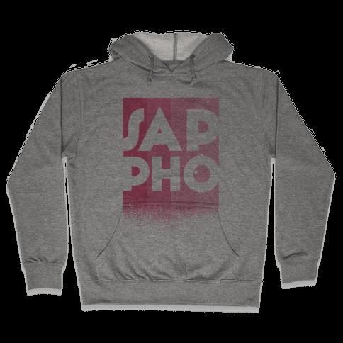 Vintage Sappho Pink Hooded Sweatshirt