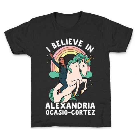 I Believe in Alexandria Ocasio-Cortez Kids T-Shirt