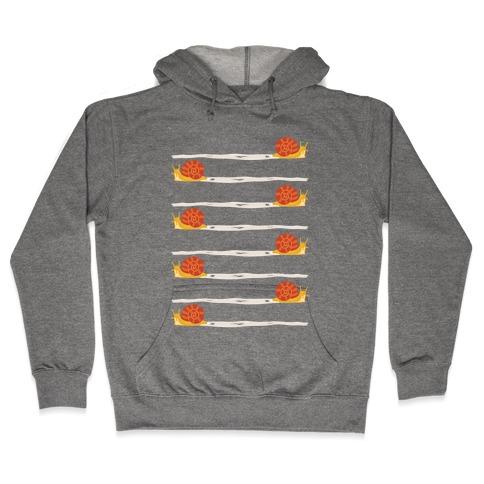 snail trail pattern Hooded Sweatshirt