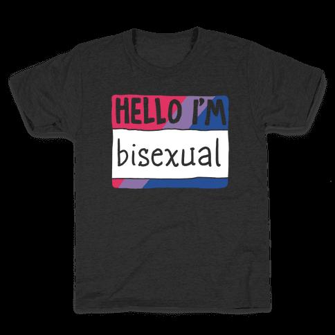 Hello I'm Bisexual Kids T-Shirt