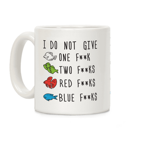 Red F**ks Blue F**ks Parody Censored  Coffee Mug