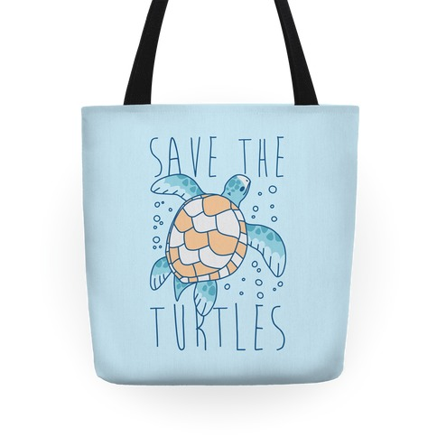 Save the Turtles Tote