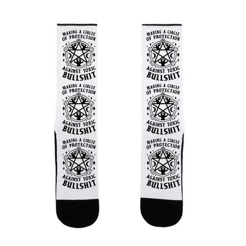 Making A Circle of Protection Against Toxic Bullshit Sock