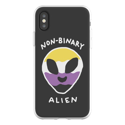 Non Binary Alien Phone Flexi-Case