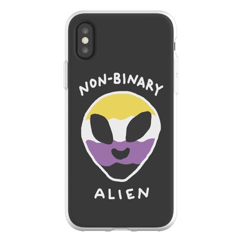 Non Binary Alien Phone Flexi-Case