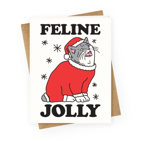 Feline Jolly Cat Greeting Card