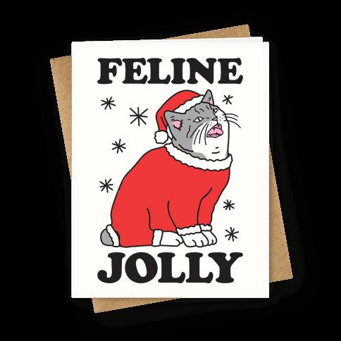 Feline Jolly Cat Greeting Card