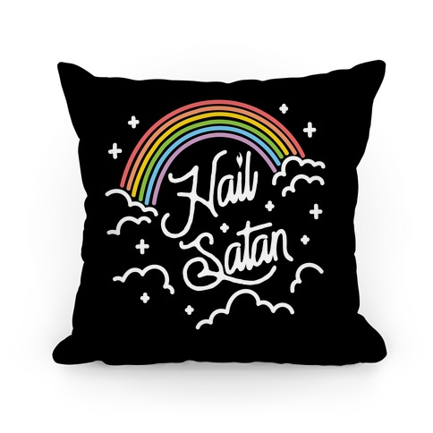 Hail Satan Rainbow Pillow