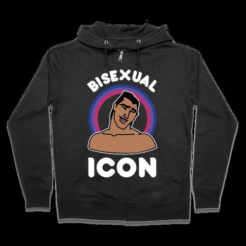 Bisexual Icon Zip Hoodie