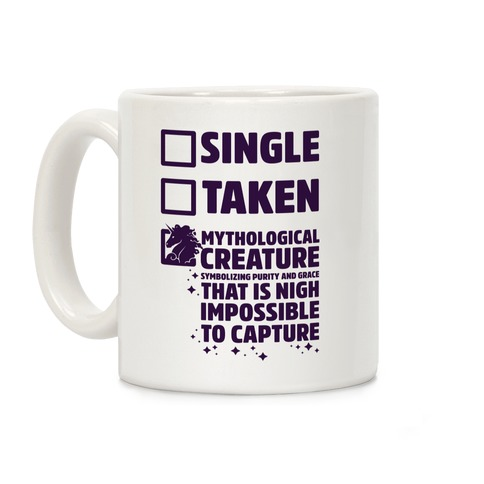 Single Taken Mythological Creature Coffee Mug