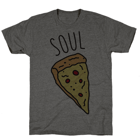 Soul Mates Pizza 1  Mens T-Shirt