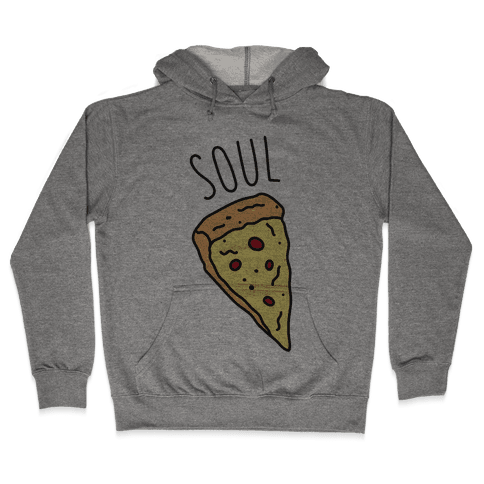 Soul Mates Pizza 1  Hooded Sweatshirt