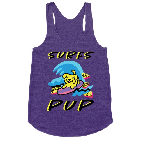 Surfs Pup Racerback Tank Top