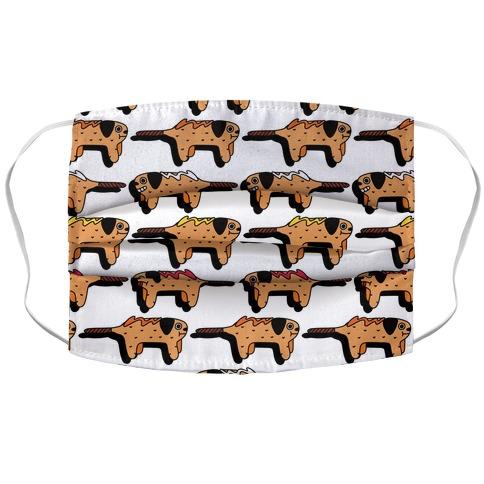 Corn Doggie Pattern Accordion Face Mask