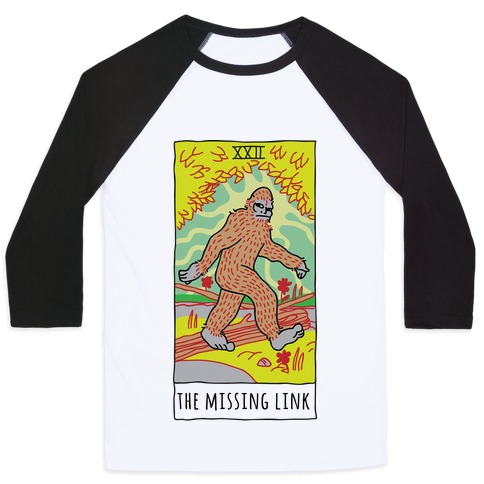 The Missing Link Bigfoot Tarot Baseball Tee