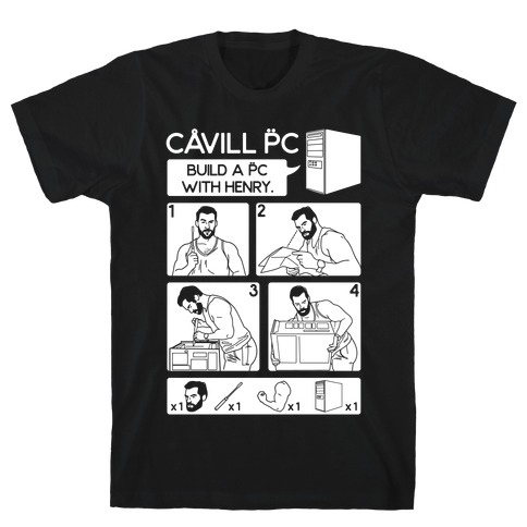 Cavill PC Parody White Print T-Shirt