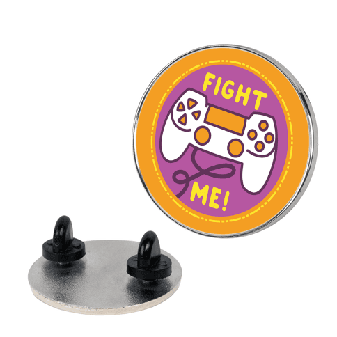 Fight Me Pop Culture Merit Badge Pin