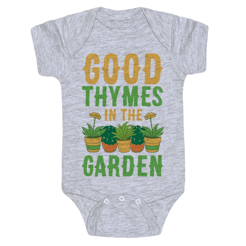 Good Thymes in the Garden Baby Onesy