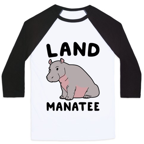 Land Manatee Baseball Tee