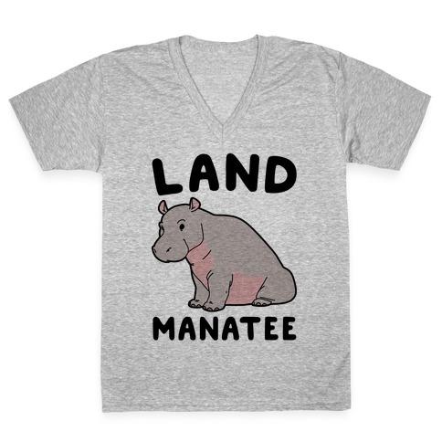 Land Manatee  V-Neck Tee Shirt