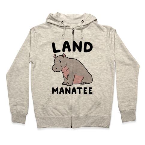 Land Manatee  Zip Hoodie