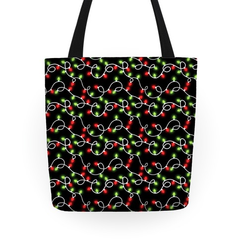 Christmas Lights Pattern Tote