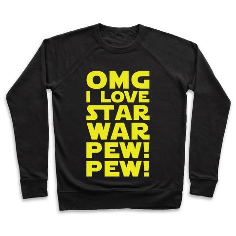 71c7a09ed OMG Star War Crewneck Sweatshirt | LookHUMAN