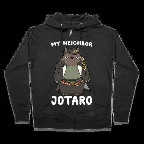 My Neighbor Jotaro Zip Hoodie