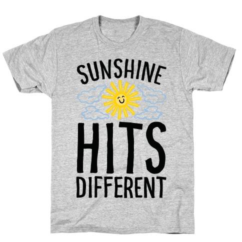 Sunshine Hits Different Mens/Unisex T-Shirt