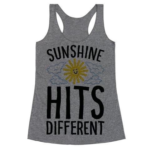 Sunshine Hits Different Racerback Tank Top