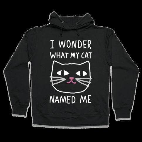 I Wonder What My Cat Named Me Hooded Sweatshirt