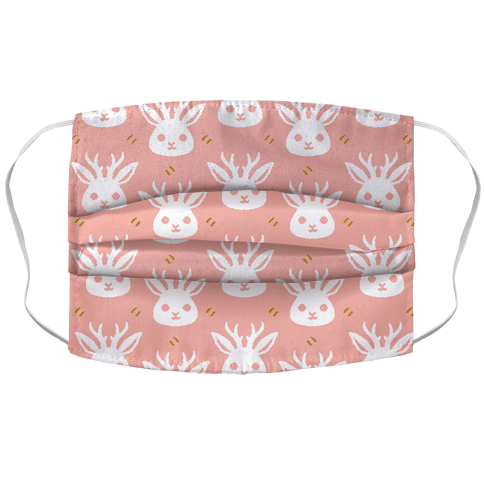 Cute Jackalope Pattern Face Mask Cover