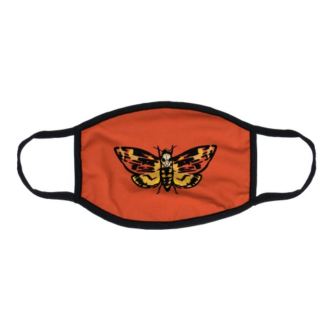Moth Over Mouth Parody Flat Face Mask